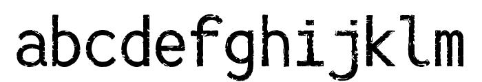 IckyTicket Mono Font LOWERCASE