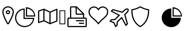 Icon-Works Regular Font OTHER CHARS