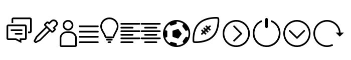 Icon-Works Regular Font UPPERCASE