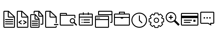 Icon-Works Regular Font LOWERCASE