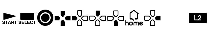 Iconic PSx Font UPPERCASE