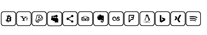 Icons 2019 Font UPPERCASE