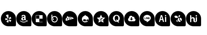 Icons Social Media 13 Font UPPERCASE