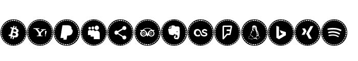 Icons Social Media 16 Font UPPERCASE