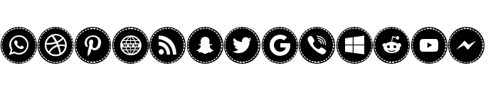 Icons Social Media 16 Font LOWERCASE