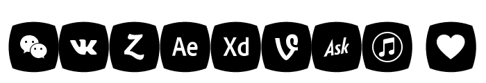 Icons Social Media 5 Font OTHER CHARS