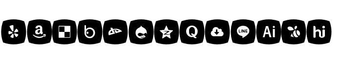 Icons Social Media 5 Font UPPERCASE