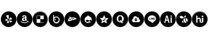 Icons Social Media 6 Font UPPERCASE