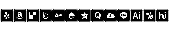 Icons Social Media 7 Font UPPERCASE