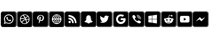 Icons Social Media 7 Font LOWERCASE