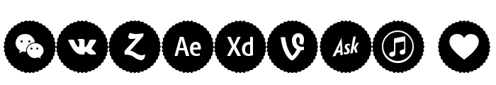 Icons Social Media 9 Font OTHER CHARS