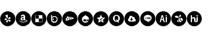 Icons Social Media 9 Font UPPERCASE