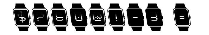 iChrono Leftalic Font OTHER CHARS