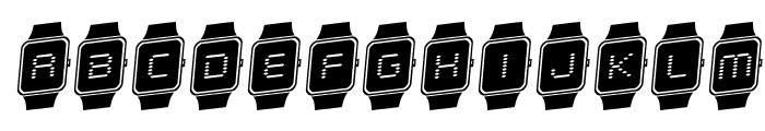 iChrono Rotalic Font UPPERCASE
