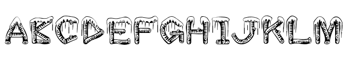 ice-sticks Font UPPERCASE
