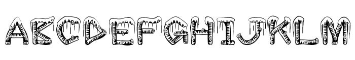 ice-sticks Font LOWERCASE