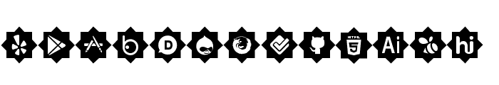 icons social media Font UPPERCASE