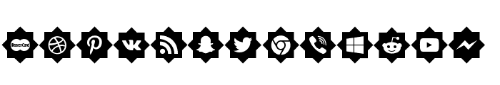 icons social media Font LOWERCASE