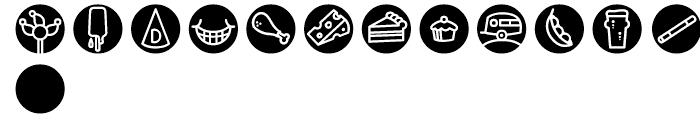 Iconics Four Font UPPERCASE