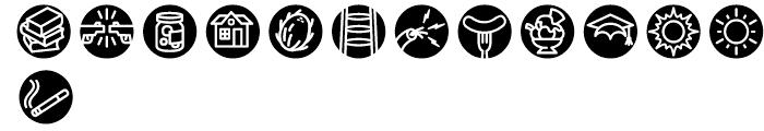 Iconics Four Font LOWERCASE