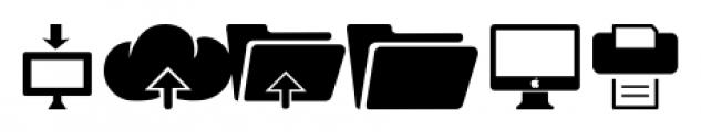 Iconized MediaDevices Font UPPERCASE
