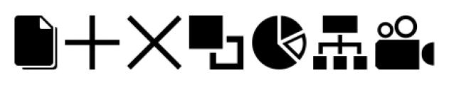 Iconized MediaDevices Font LOWERCASE