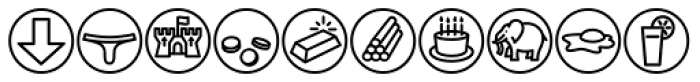 Iconics One Font UPPERCASE