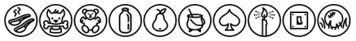 Iconics One Font LOWERCASE