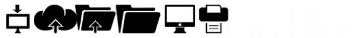 Iconized Media Devices Font UPPERCASE