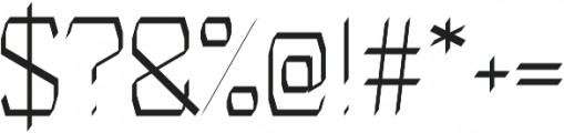 Identity regular otf (400) Font OTHER CHARS