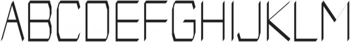 Identity regular otf (400) Font UPPERCASE