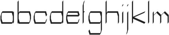 Identity regular otf (400) Font LOWERCASE