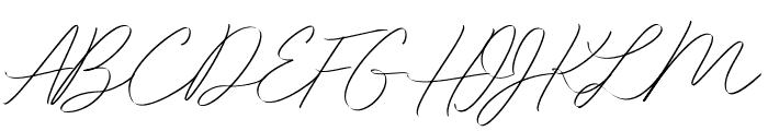 Idana Luisa Free Regular Font UPPERCASE
