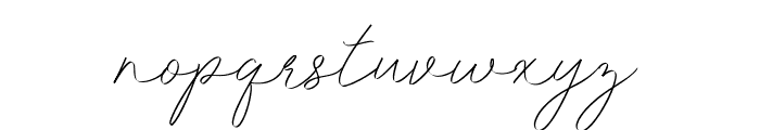 Idana Luisa Free Regular Font LOWERCASE