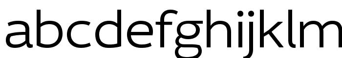 IdealistSans-Light Font LOWERCASE