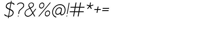 Identikal Sans Light Italic Font OTHER CHARS
