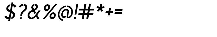 Identikal Sans Stencil Italic Font OTHER CHARS
