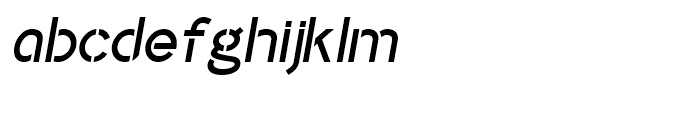 Identikal Sans Stencil Italic Font LOWERCASE