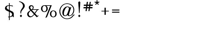 Idiosynoptium Regular Font OTHER CHARS