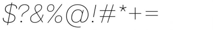 Ida Thin Italic Font OTHER CHARS