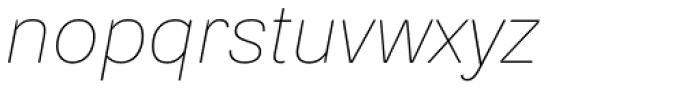 Ida Thin Italic Font LOWERCASE