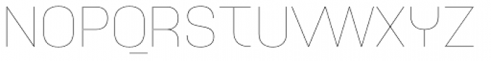 Idealista Thin Font UPPERCASE