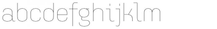 Idealista Thin Font LOWERCASE