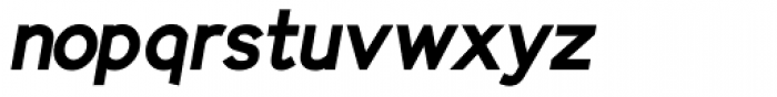 Identikal Sans Bold Italic Font LOWERCASE