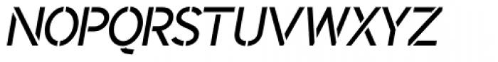 Identikal Sans Stencil Italic Font UPPERCASE