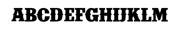 IFC INSANE RODEO BOLD Bold Font UPPERCASE