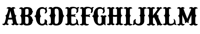IFC RAILROAD Bold Font LOWERCASE