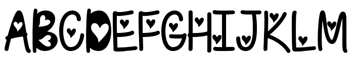 IFoundMyValentineHearted Font UPPERCASE