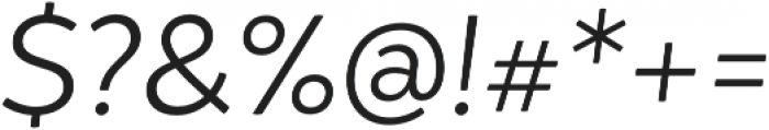 Igna Sans Light It otf (300) Font OTHER CHARS