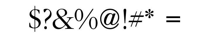 IGaramond Regular Font OTHER CHARS
